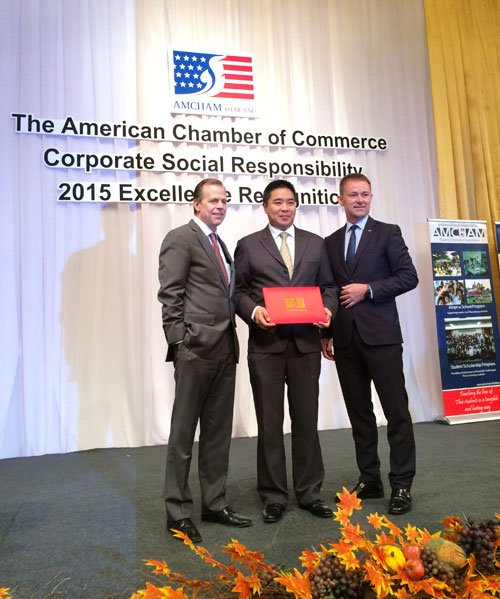 AMCHAM's CSR Excellence Award 2015 in Bangkok