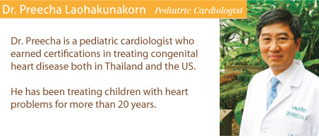 Dr. Preecha Laohakunakorn Pediatric cardiology heart center bangkok hospital thailand