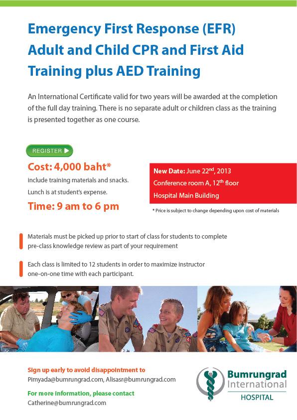 CPR Training Bumrungrad International