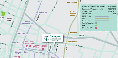 Bumrungrad International map
